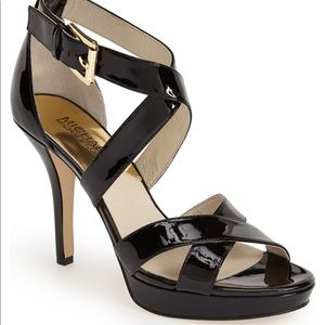 M Michael Kors Evie Patent Leather Platform 3339